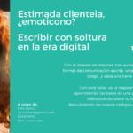 """Taller «""""Estimada clientela, ¿Emoticono? Escribir con soltura en la era digital"""". Fundación Mujeres."""