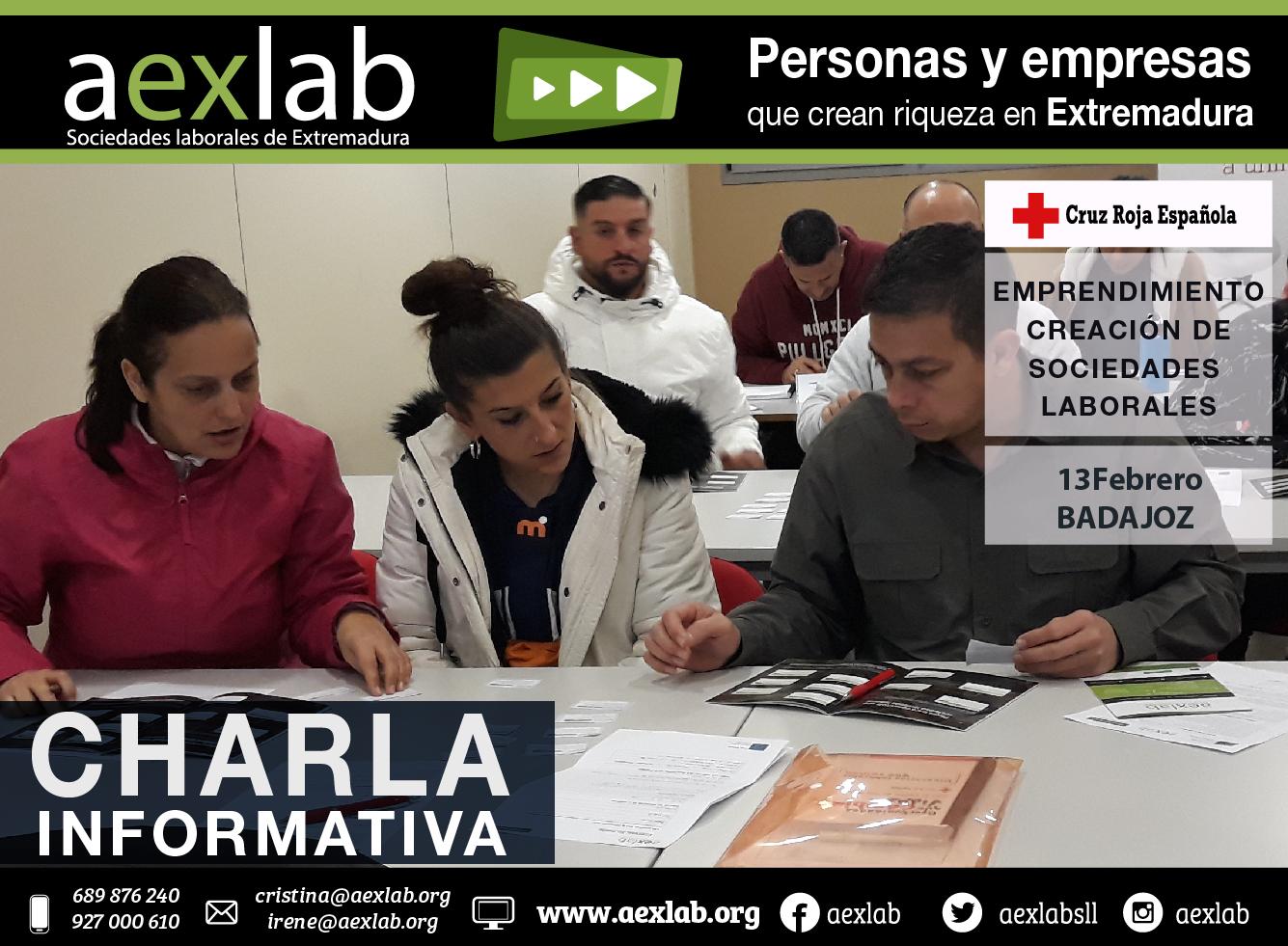 Asistentes charla CRUZ ROJA 13 febrero aexlab 5