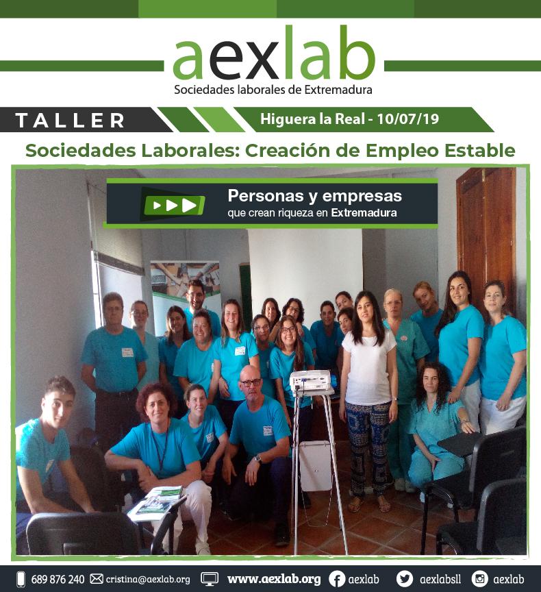 Asistentes taller higuera la real sociedades laborales aexlab-01