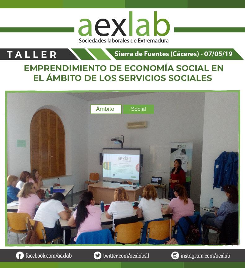 Asistentes taller sierra de fuentes ambito social aexlab-01