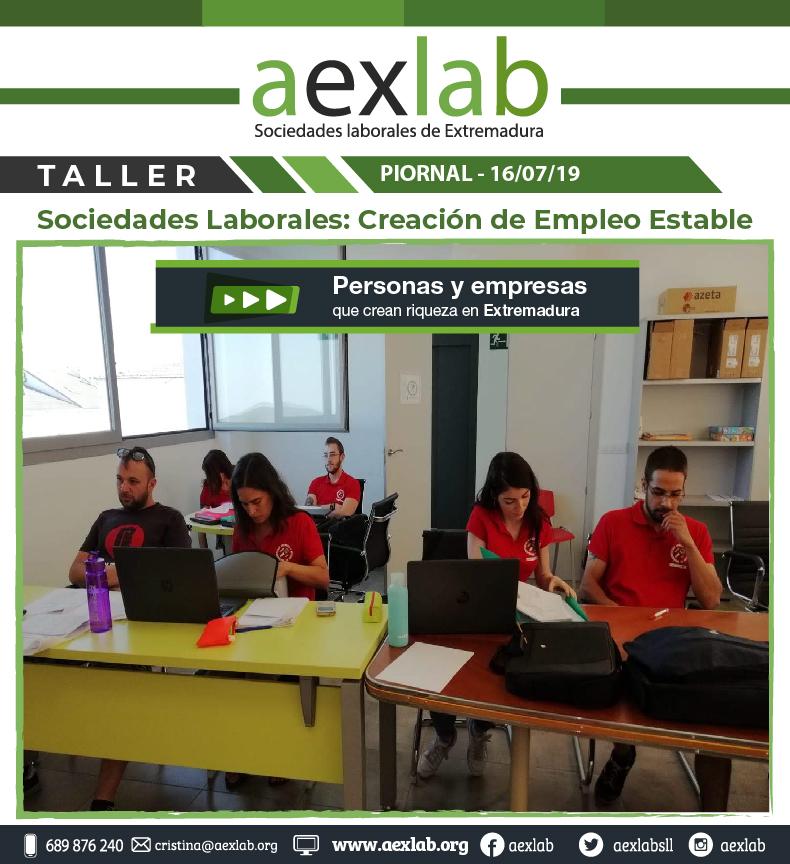 Asistentes taller sociedades laborales pional aexlab-01