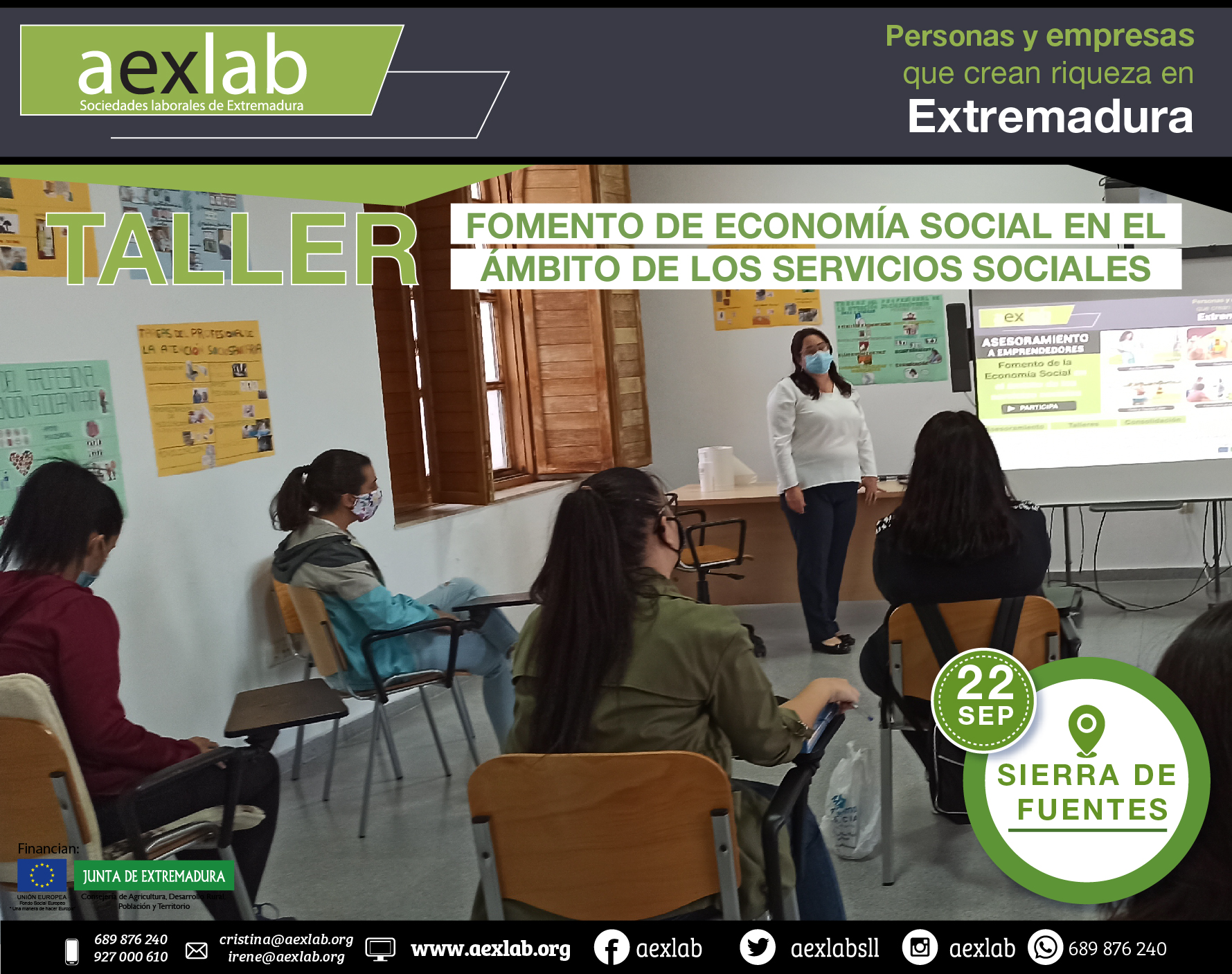 Fotos grupo taller ambito social AEXLAB 2020-03