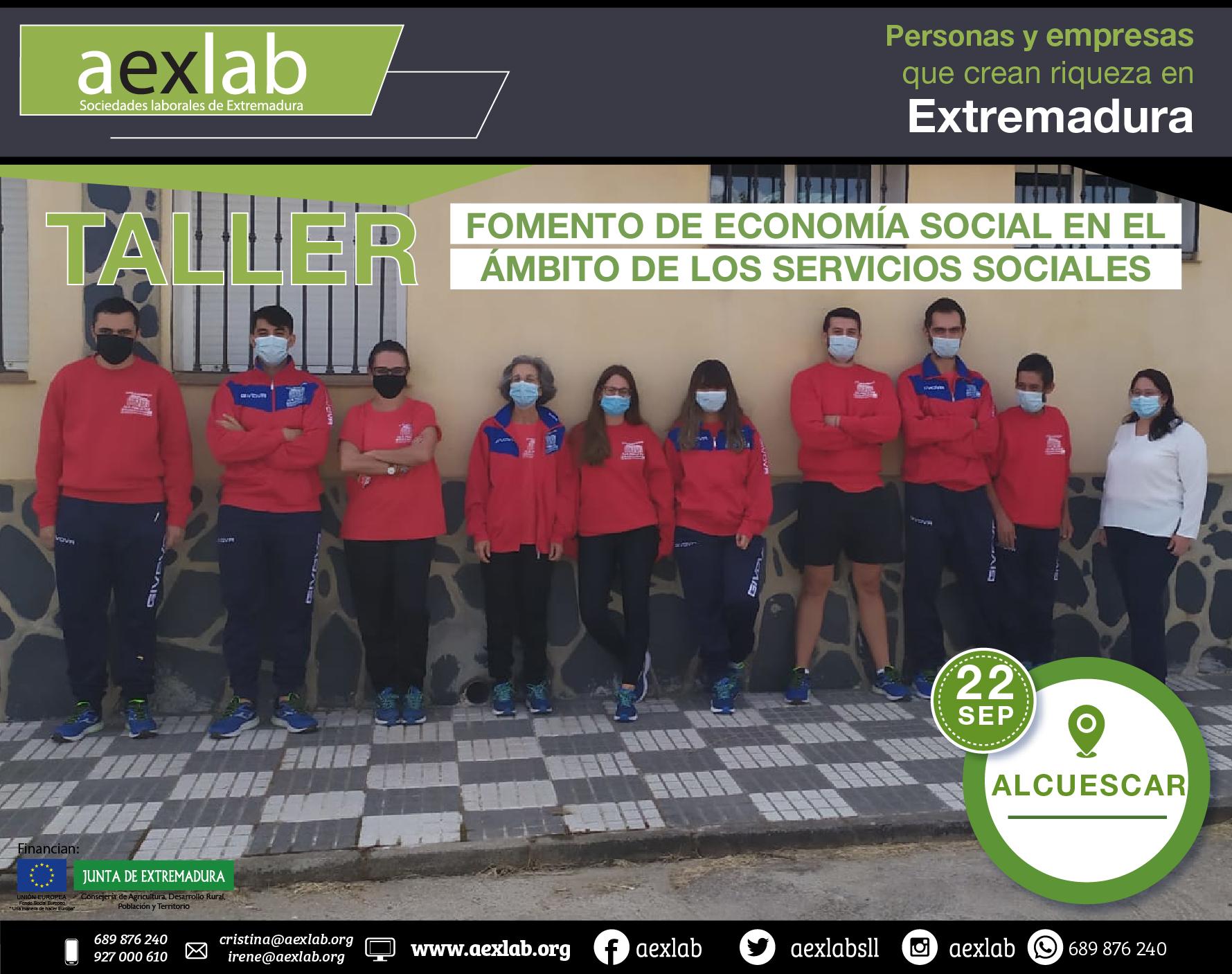 Fotos grupo taller ambito social ALCUESCAR AEXLAB 2020-03-01