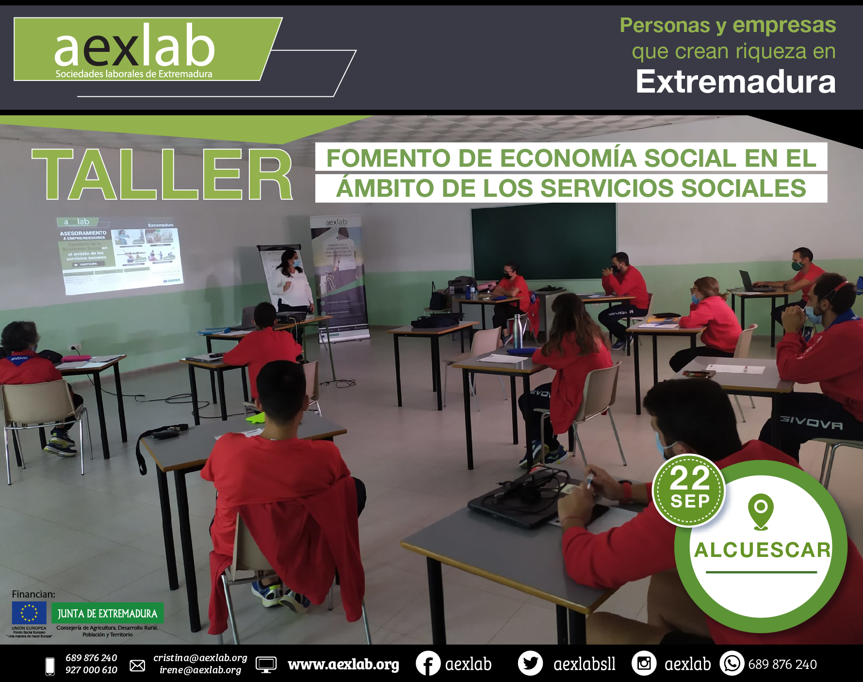 Fotos grupo taller ambito social ALCUESCAR AEXLAB 2020-03-02
