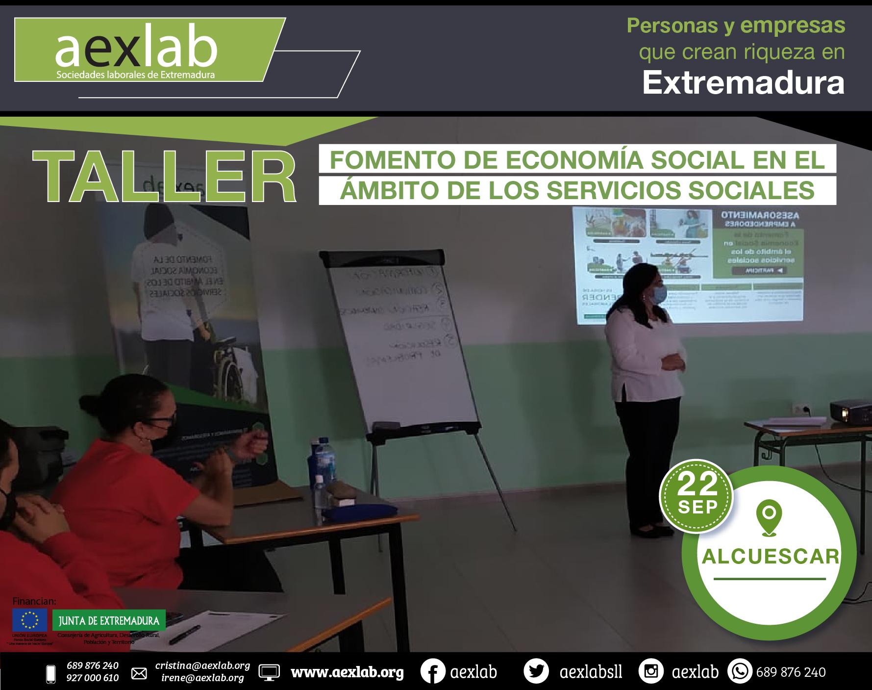Fotos grupo taller ambito social ALCUESCAR AEXLAB 2020-03-03