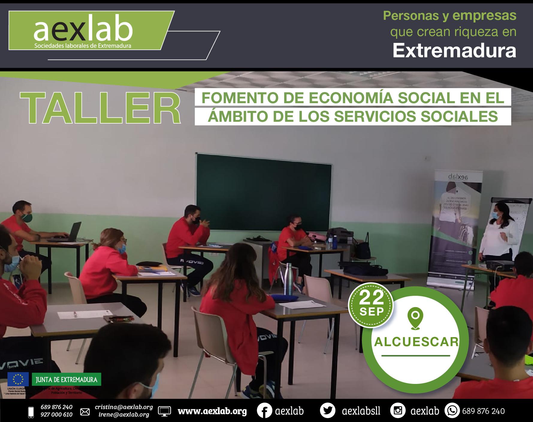 Fotos grupo taller ambito social ALCUESCAR AEXLAB 2020-03-04