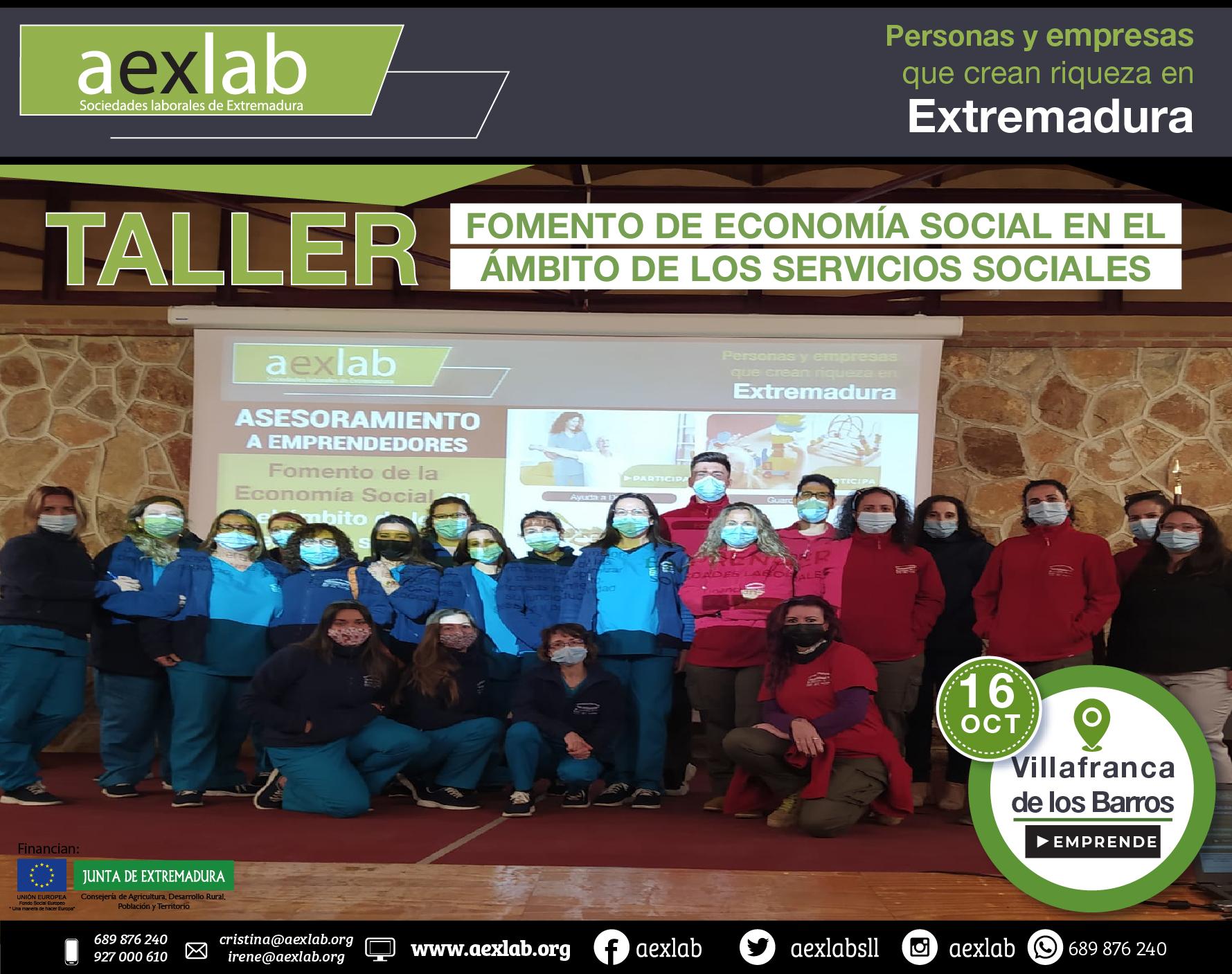 Fotos grupo taller ambito social villafranca de los barros aexlab 2020-01