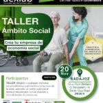 Taller creación de empresas en el ámbito social en Cruz Roja Badajoz.