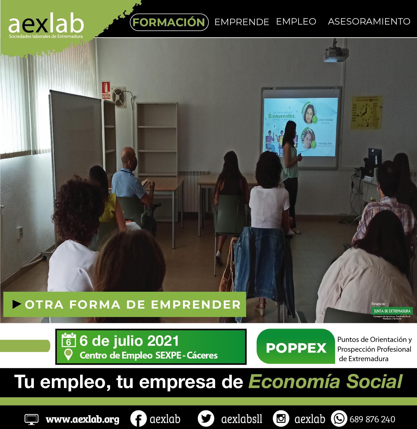asistentes taller poppex aexlab_taller sociedades laborales 6 de julio_asistentes taller almendralejo