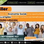 Taller Empresas de Economía Social, una oportunidad de crear tu empleo estable basado en las Sociedades Laborales. Villanueva de la Serena