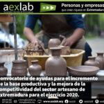 Ayudas para el incremento de la base productiva y la mejora de la competitividad del sector artesano