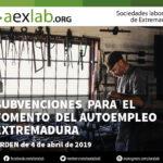 Subvenciones para el fomento del autoempleo Extremadura