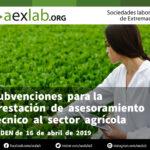 Subvenciones  para  la  prestación  de  asesoramiento  técnico  al  sector  agrícola