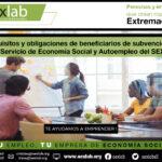 Requisitos y obligaciones de beneficiarios de subvenciones del Servicio de Economía Social y Autoempleo